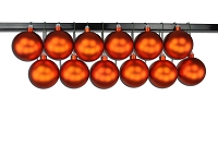 100mm Orange Matte Ball Ornament with Wire and UV Coating