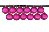 100mm Pink Matte Ball Ornament with Wire and UV Coating