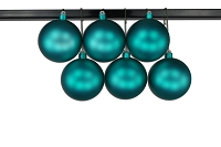 120mm Aqua Matte Ball Ornament with Wire and UV Coating