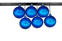 120mm Blue Matte Ball Ornament with Wire and UV Coating