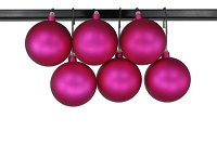 120mm Pink Matte Ball Ornament with Wire and UV Coating
