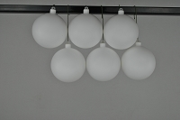 120mm White Matte Ball Ornament with Wire and UV Coating