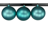 150mm Aqua Matte Ball Ornament with Wire and UV Coating