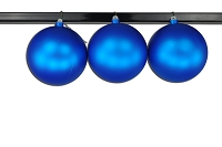 150mm Blue Matte Ball Ornament with Wire and UV Coating