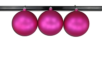 150mm Pink Matte Ball Ornament with Wire and UV Coating