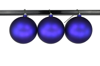 150mm Purple Matte Ball Ornament with Wire and UV Coating