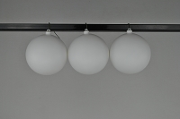 150mm White Matte Ball Ornament with Wire and UV Coating
