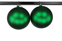 200mm 8' Green Matte Ball Ornament with Wire and UV Coating