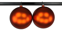 200mm Matte Orange Ball Ornament with Wire, UV Coated