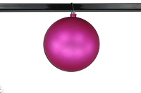 200mm Matte Pink Ball Ornament with Wire, UV Coated