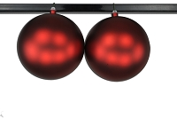 200mm 8' Red Matte Ball Ornament with Wire and UV Coating