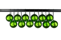 80mm Matte Lime Green Ball Ornament with Wire, UV Coated