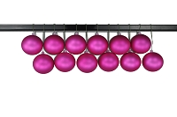 80mm Matte Pink Ball Ornament with Wire, UV Coated