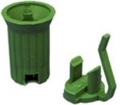 50Pk Replaceable E17 C9 Green Sockets