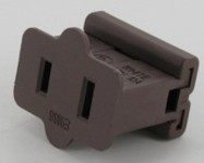 Brown Female Electrical Receptacle SPT1 Slide-On
