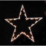 5' Commercial grade  5 point star lit with LED warm white bulbs