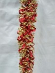 100' Red and Gold Metallic Tinsel Garland