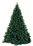 9' Artificial Natural Looking Tree Pre-Lit with Warm White LEDs on a Metal Stand