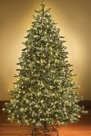 9' Classic Sequoia Pre-Lit Tree with 2000 Warm White Lights and Metal Stand