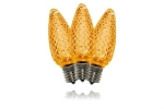 C9 Dimmable Faceted Orange LED Retrofit Bulb