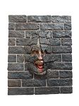 Scary Face with Brick Panel