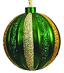 100MM Green, Silver, Gold Ornament Ball