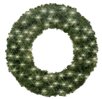 3' Sequoia Wreath Pre-Lit with Warm White LEDS