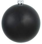 60mm Matte Black Ball Ornament with Wire, UV Coated