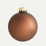 80mm Matte Copper Ball Ornament with Wire, UV Coated