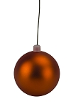 150mm Orange Matte Ball Ornament with Wire and UV Coating