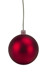 150mm Red Matte Ball Ornament with Wire and UV Coating