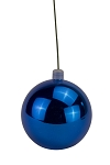 120mm Shiny Blue Ball Ornament with Wire and UV Coating