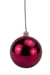 150mm Shiny Burgundy Ball Ornament UV Coated with Wire