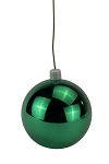 70mm Shiny Sage Green Ball Ornament with Wire, UV Coated