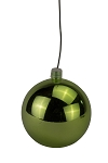 150mm Shiny Lime Green Ball Ornament UV Coated with Wire