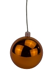 200mm Shiny Orange Ball Ornament with Wire, UV Coated