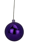 150mm Shiny Purple Ball Ornament UV Coated with Wire